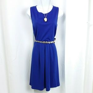 Blue casual tank dress